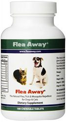 Flea Away The Natural Flea, Tick, And Mosquito Repellent for Dogs and Cats – 100 Chewable Tablets