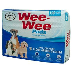 Four Paws Wee-Wee Standard Puppy Pads, 100 Ct Bag
