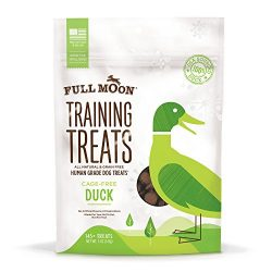 Full Moon All Natural Human Grade Duck Training Treats for Dogs, 5 Ounce