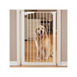 Command Pet Tall Pressure Gate, 42″H/29″-32″W, White