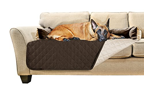 Furhaven Pet Sofa Buddy Furniture Cover Protector Pet Bed for Dogs and Cats, X-Large, Espresso/Clay