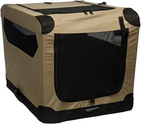 AmazonBasics Folding Soft Dog Crate, 26″