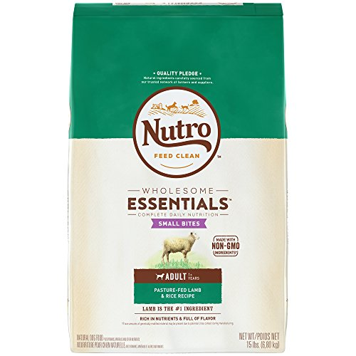 Nutro WHOLESOME ESSENTIALS Adult Dry Dog Food Small Bites Pasture-Fed Lamb & Rice Recipe, 15 lb. Bag