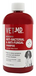 VetMD Medicated Anti-Bacterial & Anti-Fungal Shampoo | Best Medicated Shampoo for Dogs, 17 ounces, Anti-Fungal & Anti-Bacterial