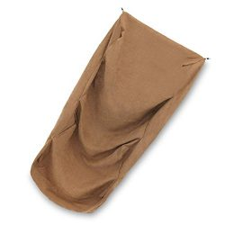 "SUEDE COVER for 3-Step Doggie Stairs for Small Dogs Cats- Fits Best Pet Supplies (18"" x 15"" x 13"") Foam Pet Steps- Machine Washable Covers- Anti Slip Base- Ultra Plush Supplies for Dog Furniture (Light Brown)"