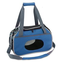 Best Pet Supplies Pet Travel Carrier for Small Dogs and Cats with Ventilation, Blue