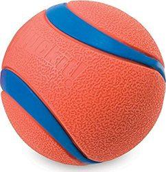 Chuckit! Ultra Dog Ball Bounces Floats Bright Orange Blue 5