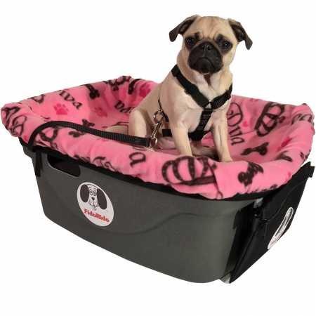 FidoRido Pet Car Seat Including Pink Diva Fleece Cover