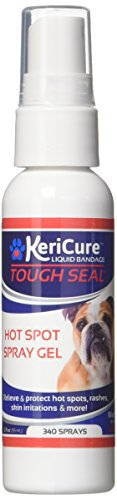 KeriCure Tough Seal Hot Spot Liquid Bandage, Spray on Soothing Gel and Protective Invisible Barrier against Infection