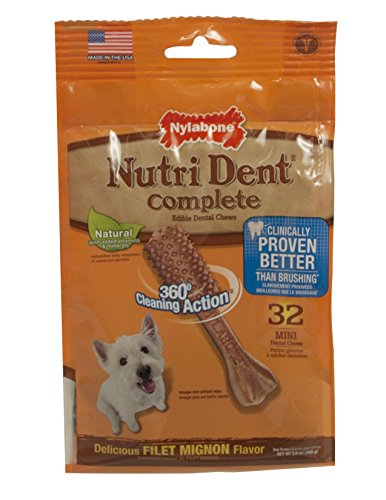 Nylabone Nutri Dent Complete Adult Filet Mignon 32 count Pouch