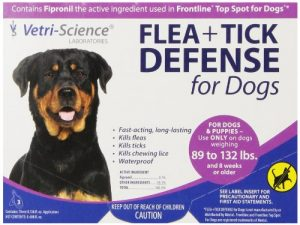 VetriScience Laboratories (090050D.003 Flea + Tick Defense for 89 to 132-Pound Dogs and Puppies, 3 Doses