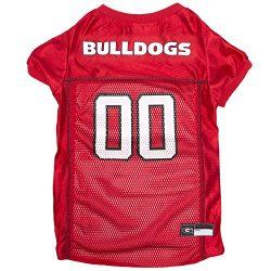 Pets First Collegiate Georgia Bulldogs Dog Mesh Jersey, X-Large