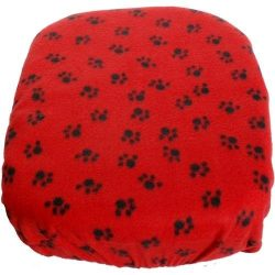FidoRido Pet Car Seat- Red with Black Paw Prints Replacement Fleece Cover