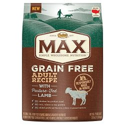 Nutro MAX Grain Free Adult Recipe With Pasture Fed Lamb Dry Dog Food, (1) 25-lb. bag; With Delicious Lamb Flavor, Rich in Nutrients and Full of Flavor