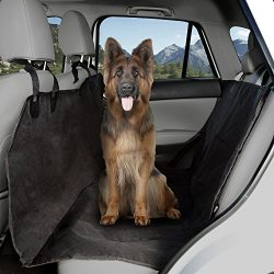 PETMAKER Pet Seat Cover Car Protector- Bench Hammock Backseat Liner, Quilted Waterproof All Weather Non-Slip Backing for Car/Truck/SUV (X-Large) by