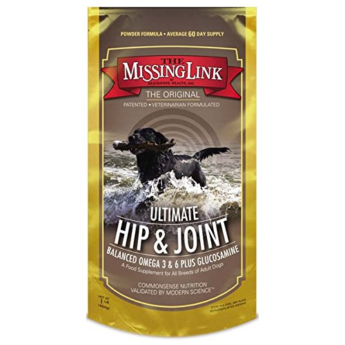 The Missing Link Original All Natural Superfood Dog Supplement- Balanced Omega 3 & 6 Plus Glucosamine to support Mobility and Digestive Health – Hip & Joint Formula – 1 lb.