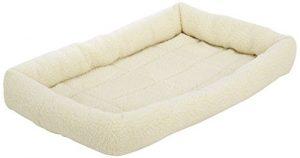 AmazonBasics Padded Pet Bolster Bed – 29 x 19 inches