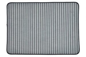 Bone Dry DII Non Slip XX-Large Stripe Pet Cage Mat, 30×45, Absorbent Non Scratch Under Cage Mat for Dogs and Cat, Perfect for Kennels or Crates-Gray