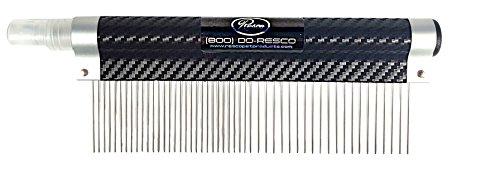Resco USA-MADE Spritzer Comb for Pets, 1.5″ Combination, Carbon Fiber, Includes Detangler and Finishing Spray