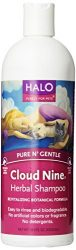 Halo Cloud Nine Herbal Shampoo for Dogs & Cats, 16-Ounce Bottle
