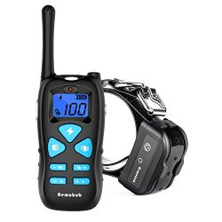 Nemobub Dog Shock Collar 1300ft Remote Training and 100% Waterproof Rechargeable Shock Collar with Beep Vibration and Electric Dog Collar Dogs