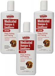 (3 Pack) Sulfodene Medicated Shampoo and Conditioner for Dogs 12 Ounce Bottles