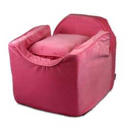 Snoozer Luxury Lookout Pet Car Seat, Small Luxury I, Pink with Pink