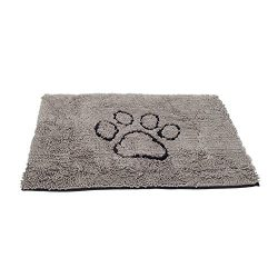 Dog Gone Smart Dirty Dog Doormat, Medium, Grey