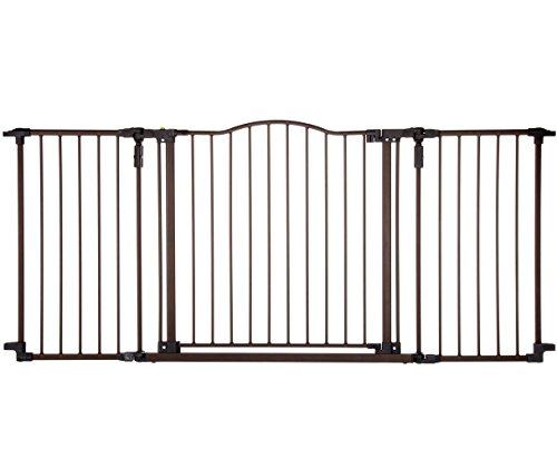 Supergate Deluxe Décor Gate, Bronze, Fits Spaces between 38.3″ to 72″ Wide and 30″high