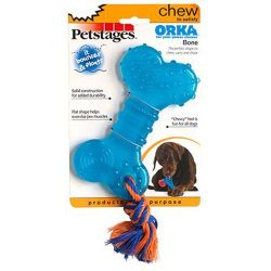Orka Bone Rubber Chew and Fetch Toy for Dogs, Dog Chew Toy by Petstages