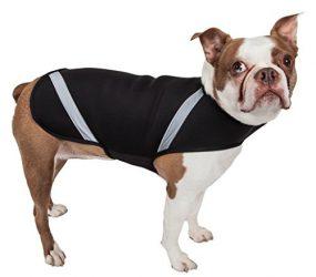 PET LIFE Extreme Neoprene Multi-Purpose Sporty Protective Shell Pet Dog Coat Jacket, Medium, Black
