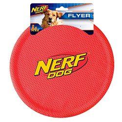 Nerf Dog Nylon Flying Disk Dog Toy, Large, Red