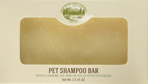 Falls River Soap Company Flea and Tick Prevention for Dogs and Cats – Pet Shampoo Bar (3.5Oz)-Natural Handmade Organic Vegan- Cat and Dog flea and tick Control