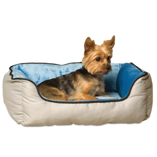 K&H Pet Products Self-Warming Lounge Sleeper Pet Bed Small Gray/Blue 16″ x 20″