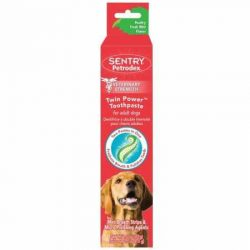 Petrodex Twin Power Toothpaste for Puppies and Small Dogs, Poultry Fresh Mint Flavor, 2.5 oz