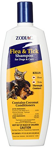 Zodiac Flea & Tick Shampoo for Dogs & Cats, 18-ounce