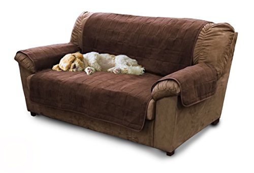 Furhaven Pet Furniture Protector | Home Loveseat Protector/Cover for Dogs & Cats, Espresso