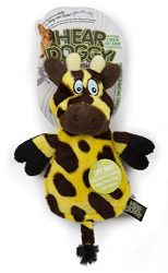 Hear Doggy Flatties with Chew Guard Technology Dog Toy, Giraffe