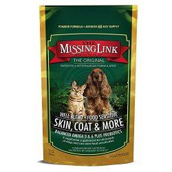 The Missing Link – Well-Blend All Natural Vegetarian Omega Superfood Dog & Cat Supplement – Healthy Skin, Coat & Digestion – 1lb