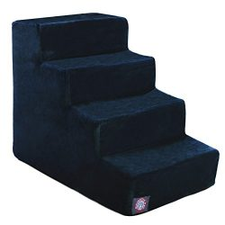 Majestic Pet 4 Step Navy Blue Suede Pet Stairs By Products