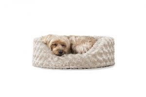 Furhaven Pet Dog Bed | Oval Ultra Plush Pet Bed for Dogs & Cats, Small, Cream