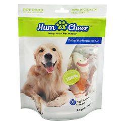 Hum & Cheer HM000085CK-100 Daily Dental Bones Chicken wrapped Rawhide Dog Treats Chews