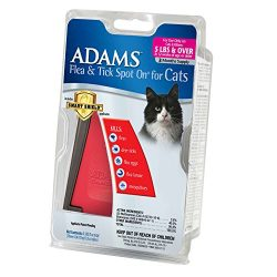 Adams Flea and Tick Spot On for Cats, Over 5 Pound, 3 Month Supply, With Applicator