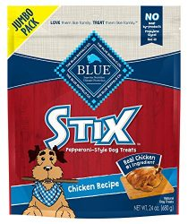 Blue Buffalo Stix Chicken Recipe Pepperoni-Style Dog Treats, 24oz Bag