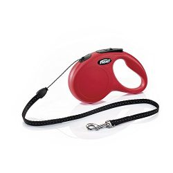 Flexi CL10C5.250.R New Classic Cord Retractable Leash, Red, Small/16′