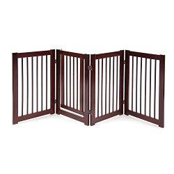 Primetime Petz 360 Configurable Dog Gate with Door – Indoor Freestanding Walk Through Wood Pet Gate