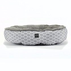 Home Dynamix Nicole Miller Comfy Pooch Pet Bed, 30 inch Round, Gray Diamond