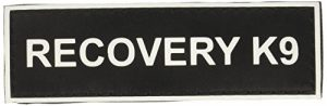 """""""Recovery K9"""" Medium nylon velcro patches by Dean & Tyler."""