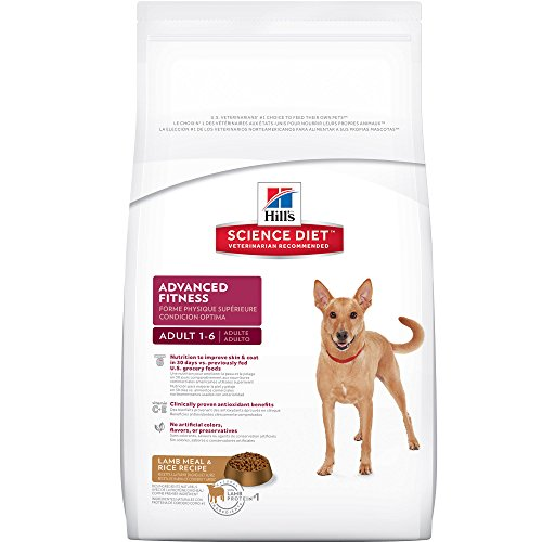 Hill's Science Diet Adult Advanced Fitness Dog Food, Lamb Meal & Rice Recipe Dry Dog Food, 15.5 lb Bag
