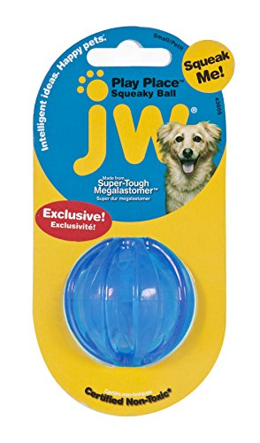 JW Pet Playplace Squeaky Ball – Small (color may vary)